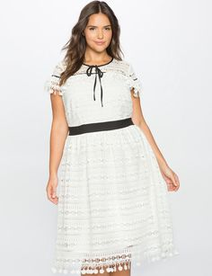 Layered Ruffle Lace Dress from eloquii.com