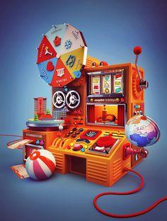 Thomas Burden — The Jacky Winter Group Game Design, Prop Design, 3d Design, Event Design, Graphic Design, 3d Cinema, Jacky Winter, 3d Artwork, Graphics