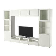 BESTÅ TV-Komb. mit Vitrinentüren IKEA