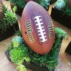 Super bowl sunday football centerpieces more. Football Banquet, Football Themes, Sport Football, Alabama Football, American Football, College Football, Basketball, Football Centerpieces, Banquet Centerpieces
