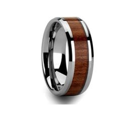 This ring is the ideal choice for any man who works around dangerous machinery or anyone that wants a great ring on a budget. This ring is made of the extremely hard material Tungsten. This is a safe ring for anyone who works around machinery as the ring will burst as opposed to collapsing around the finger as a gold or silver ring will do. This ring is GUARANTEED to never scratch and never lose its shine!