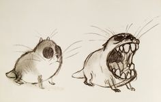 Gopher-Charakter-Studie, The Good Dinosaur, von Matt Nolte - Animals Character Design Animation, Character Design References, Character Art, Cute Drawings, Animal Drawings, Ink Drawings, Cool Monsters, Pet Mice, The Good Dinosaur