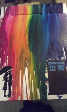 moving to a new apartment. thought i'd try some DIY art. had to have some doctor who mixed in. <3.