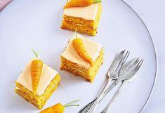Karottenkuchen-Würfel Austrian Recipes, Carrot Cakes, Carrots, Sweet Treats, Baking, Desserts, Turmeric, Easy Meals, Cooking