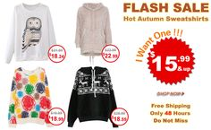 Flash sale>> 26 hours left ! Hurry up for autumn looks!!