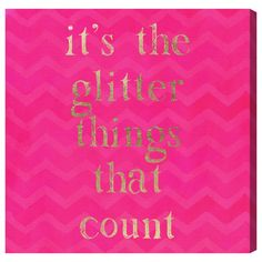 "Oliver Gal Runway Avenue The Glitter Things Painting Print on Canvas Size: 20"" H x 20"" W"