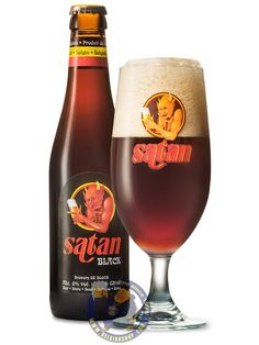 Satan Black 8° Available at http://store.belgianshop.com/special-beers/1938-satan-black-8-13l.html  The smoky roasted coffee notes, with aromas of sweet, spicy and bitterness are a well complement for the hearty meals such as steaks, rabbit, fish like halibut but also a good companion for sweet food, desserts such as brownies and dark chocolate, toffee etc. Old cheese like Emmental, Cheddar together with this black beer is a revelation of tastes and impressions.