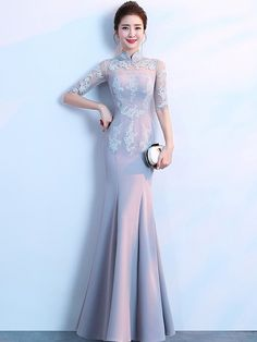 Style vintage clothes robes New ideas Evening Dresses, Prom Dresses, Bridesmaid Dresses, Wedding Dresses, Robes Vintage, Vintage Outfits, Cheongsam Dress, Ao Dai, Ball Gowns