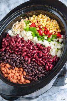 Slow Cooker Three Bean Chili | aberdeenskitchen.com
