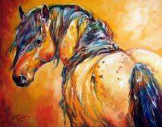 MUSTANG APPALOOSA by M BALDWIN ~ EQUINE ARTIST
