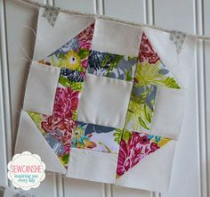 Learn to piece the easy churn dash block!
