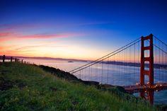 Sunrise over the SF Bay.