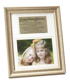 Take a look at this Pewter Granddaughters Frame by Grandparent Gift Company on #zulily today!