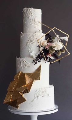 These Wedding Cakes Are Incredibly Stunning - unique wedding cakes, wedding cake designs best wedding cakes, unique wedding cake design 201 - Pretty Wedding Cakes, Purple Wedding Cakes, Fall Wedding Cakes, Unique Wedding Cakes, Wedding Cakes With Flowers, Wedding Cake Designs, Wedding Cupcakes, Wedding Cake Toppers, Lace Wedding