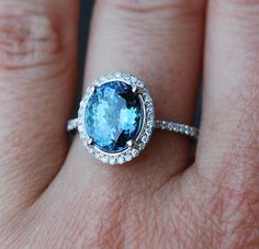 Engagement ring. Tanzanite ring by Eidelprecious ring.  This Tanzanite is natural certified 3.8ct oval cut stone. The cut is mesmerizing, making