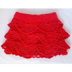 Crochet girl's skirt