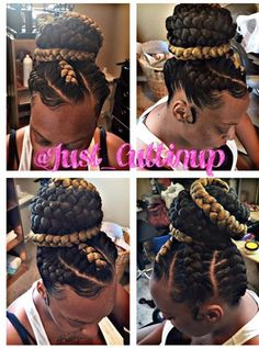Braids goddess look braids goddess braid recipes braid braids goddess recipes 51 goddess braids hairstyles for black women Braided Ponytail Hairstyles, Braided Hairstyles For Black Women, Ponytail Styles, African Braids Hairstyles, Hairstyles With Bangs, Girl Hairstyles, Braid Styles, Cornrows Updo, Braided Updo