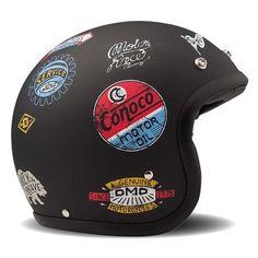DMD Vintage Helmet - Sticky | Open Face Motorcycle Helmets | FREE UK delivery - The Cafe Racer