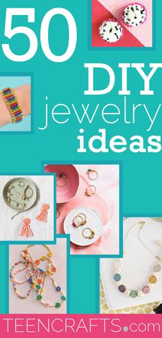 DIY Jewelry Ideas - Jewelry Making Projects With Step by Step Tutorial - Instructions for Ring, Necklace, Bracelet, Earrings #teencrafts #diyjewelry