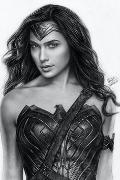Woman Drawing Pencil portrait drawing of Wonder Woman (Gal Gadot).Pencil portrait drawing of Wonder Woman (Gal Gadot). Wonder Woman Drawing, Wonder Woman Art, Gal Gadot Wonder Woman, Realistic Pencil Drawings, Cool Art Drawings, Marvel Girls, Marvel Comics Superheroes, Transférer Des Photos, Avengers Drawings