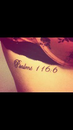 Bible verse tattoo that I got on my 18th birthday!! :)