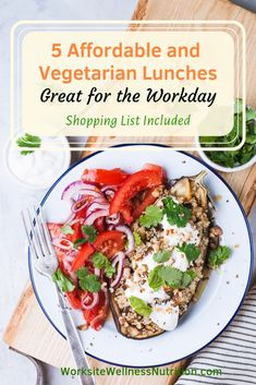 Try these healthy and delicious workday meal plan for free! Perfect for staying on track of your health goals. #worksitewellnessnutrition #health #workday #mealplan