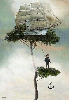 """Stranded"" - Art by Catrine Welz-Stein"