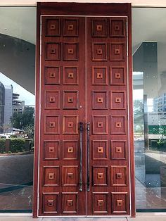 Entrance doors to th