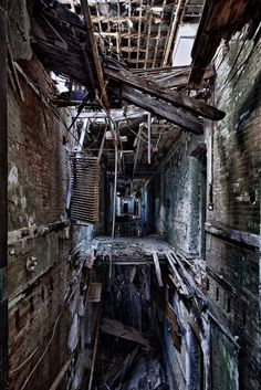 Derelict building with floors falling away. It gets no better than this for photography. #derelict