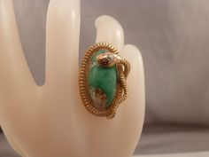 Antique Turquoise Ruby Diamond Snake Ring 14k Yellow Gold Cocktail #Unbranded #Cocktail