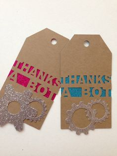 Party favor tags thank you tags robot party by PerfectLemonade