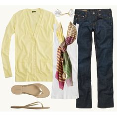That soft buttery yellow cardigan... love. Cute and comfy. I'd wear all of it!
