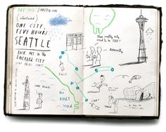 One City, Five Hours: Seattle (by OliverJeffers for United Airlines)