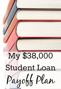 My $38,000 Student Loan Payoff Plan. That's the total amount of student loans that I accumulated while I was getting my undergraduate and graduate degrees. The amount that is left is still at $38,000 now, mainly because I haven't really bothered with student loan repayment (even though I should have!) and interest has stupidly been building up. http://www.makingsenseofcents.com/2012/11/student-loan-plan.html Student Loans Payoff #StudentLoans #debt Pay off Debt, Student Loan Debt #debt