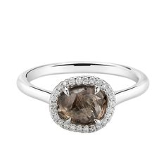 The rich brown color of this rough diamond is just sumptuous! #chocolatediamond