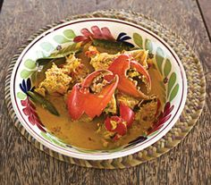 Serve this dish with large pieces of the cracked crab right in the broth.
