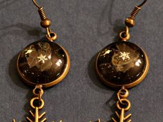 Real Snowflakes in Earrings Preserved Forever Under Glass - Bitcoin accepted by PreservedSnowflakes