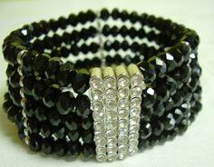 Vintage Black Crystal Bracelet by myshininglights on Etsy, $30.00