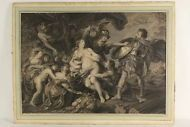 Peter Paul RUBENS (1577-1640) Große Radierung c.1720 Allegorie Akt Barock Antik