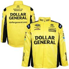 Matt Kenseth Chase Authentics Official Replica Uniform Jacket - Yellow - $93.99
