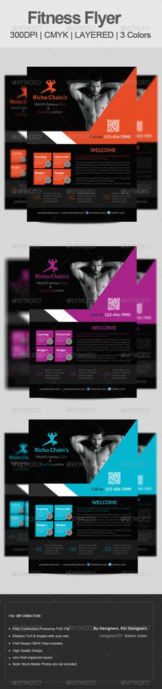 Check Out Fitness Flyer  Gym Flyer V By Satgur Design Studio On