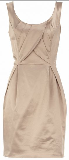 Dorothy Perkins Champagne fitted wrap dress