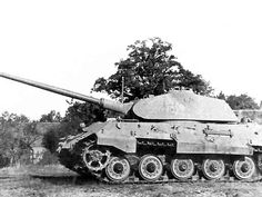 A captured King Tiger with Porsche turret in rather good condition