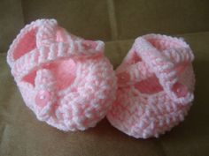 Baby Shoes Pink on Pink Size M Ready to Ship PINK