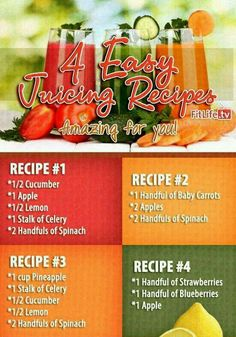 Juice recipes - looks refreshing...loving my new obsession with juicing and smoothies