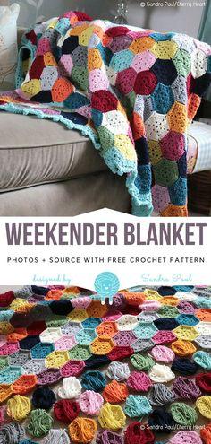 Great Absolutely Free scrap yarn Crochet Blanket Tips WeekEnder Blanket Free Crochet Pattern Motifs Afghans, Afghan Crochet Patterns, Crochet Stitches, Knitting Patterns, Crochet Afghans, Crochet Quilt, Scrap Yarn Crochet, Crochet Crafts, Crochet Blankets