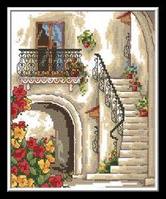 merdivenler gobleni, merdivenler şeması #goblen #etamin #kanavice #goblenci  www.goblenci.com