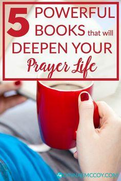 5 Powerful Books that will Deepen Your Prayer Life Christian Living, Christian Faith, Christian Quotes, Prayer Closet, Prayer Room, Prayer Wall, Prayer Times, Prayer Board, Prayer Warrior