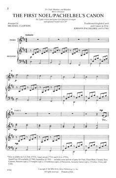The First Noel/Pachelbel's Canon (Two-Part ) | J.W. Pepper Sheet Music