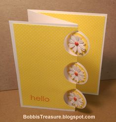 Bobbi's Treasure: Flower Focused Card Triple Circle die card